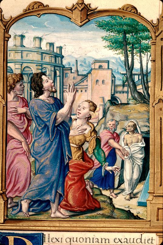 Heures à l'usage de Rome - Résurrection de Lazare_0
