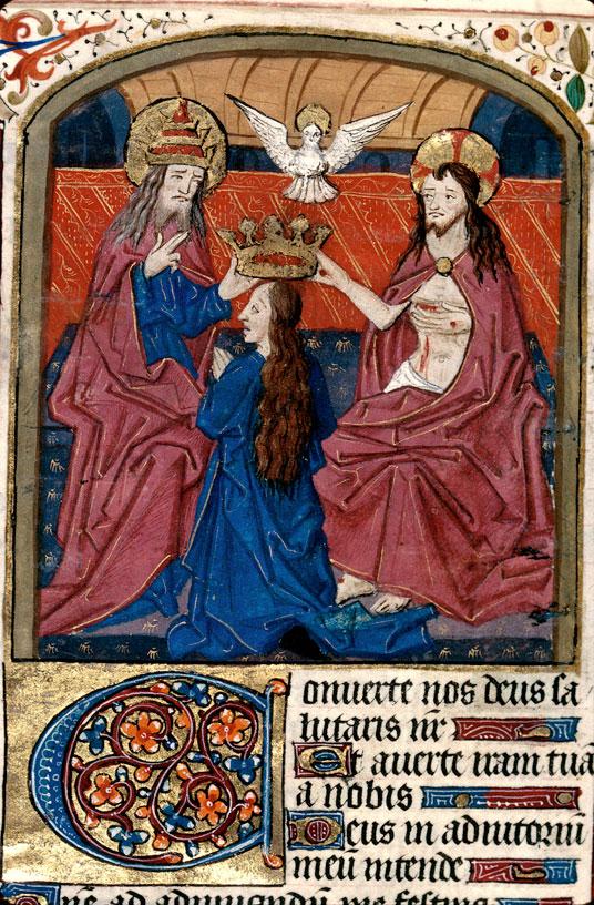 Heures à l'usage de Langres - Couronnement de la Vierge par la Trinité_0