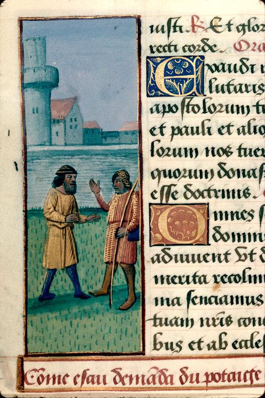 Heures à l'usage de Rome - Esaü cédant son droit d'aînesse à Jacob_0