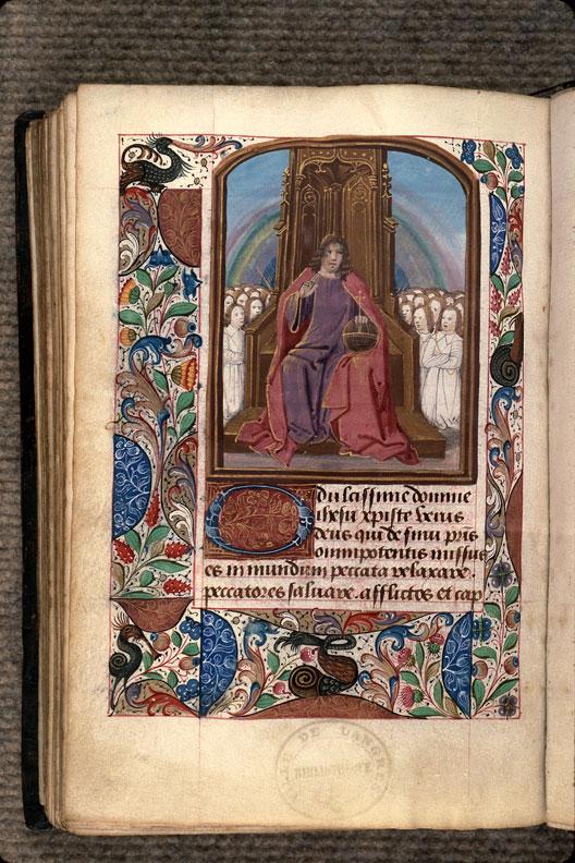 Heures à l'usage de Langres - Salvator mundi entouré de la chrétienté en prière_0