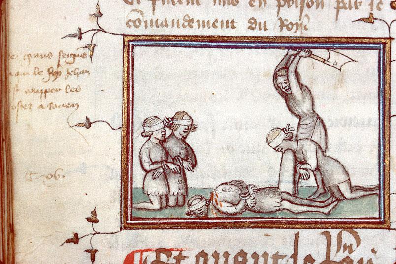 Fleurs des chroniques - Exécution de seigneurs normands à Rouen en 1356_0