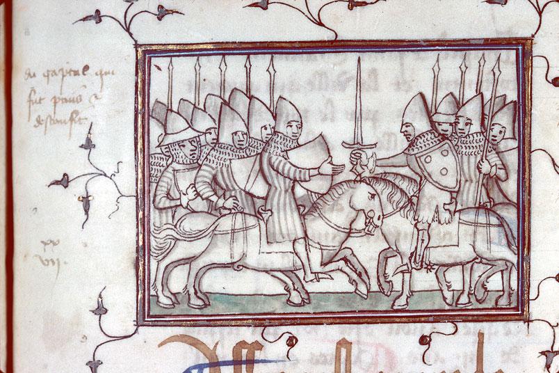 Fleurs des chroniques - Reddition de Jean de Grailly, captal de Buch, à Owen le Gallois_0