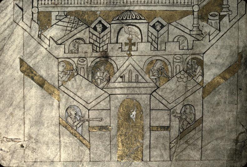 Cartulaire de l'abbaye du Mont-Saint-Michel - Vision de saint Aubert_0