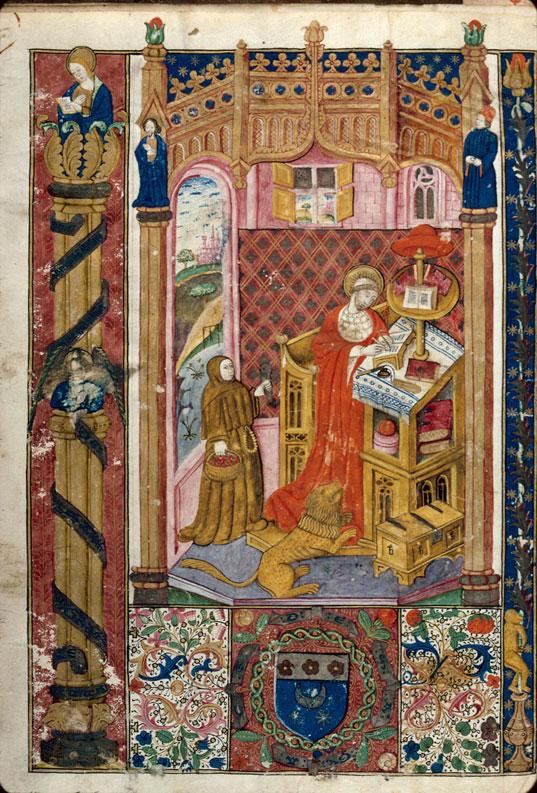 Préfaces de la Bible - Saint Jérôme écrivant_0
