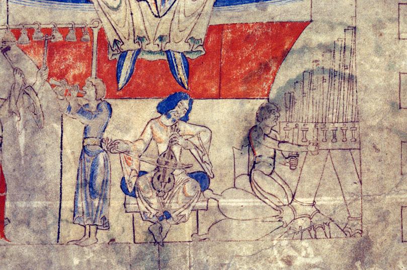 Bible - David roi entouré de musiciens_0