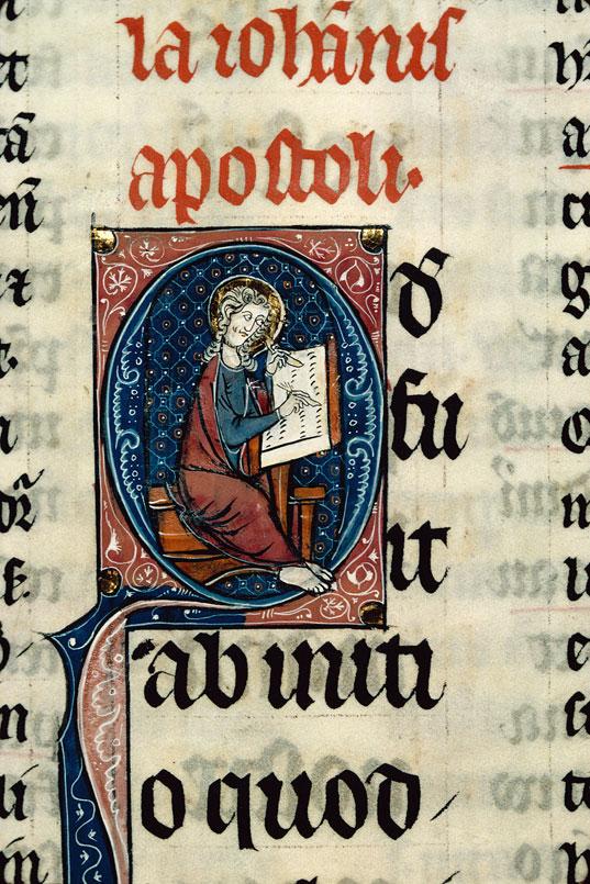 Bible glosée (partie de) - Saint Jean écrivant_0