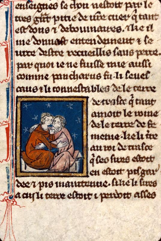 Recueil littéraire - Pancharus et la reine de Fémenie s'embrassant_0