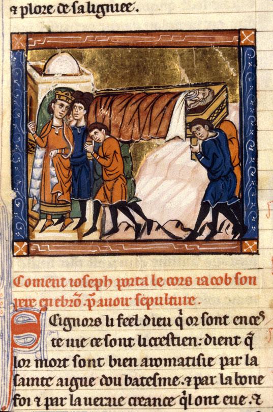 Histoire ancienne jusqu'à César - Corps de Jacob transporté à Hébron_0