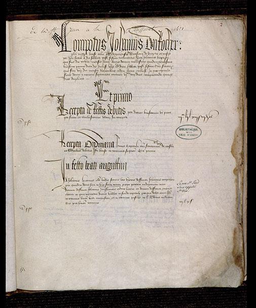 Comptes de fabrique de la cathédrale d'Angers