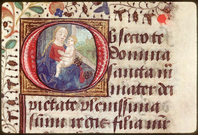 Heures à l'usage d'Orléans - Vierge à l'Enfant_0