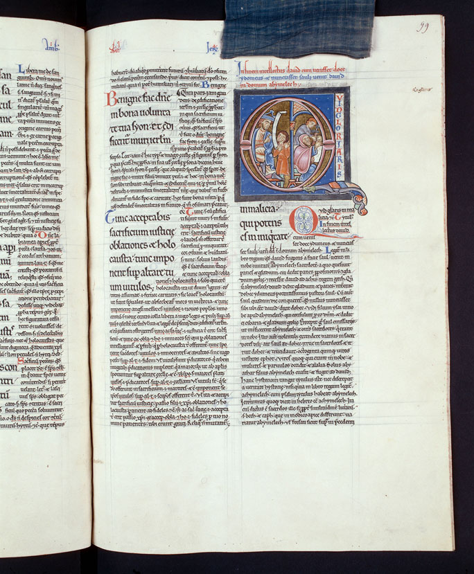 Comment. in Psalmos - Doëg dénonçant David à Saül/Ahimélek donnant à David du pain et l'épée de Goliath_0