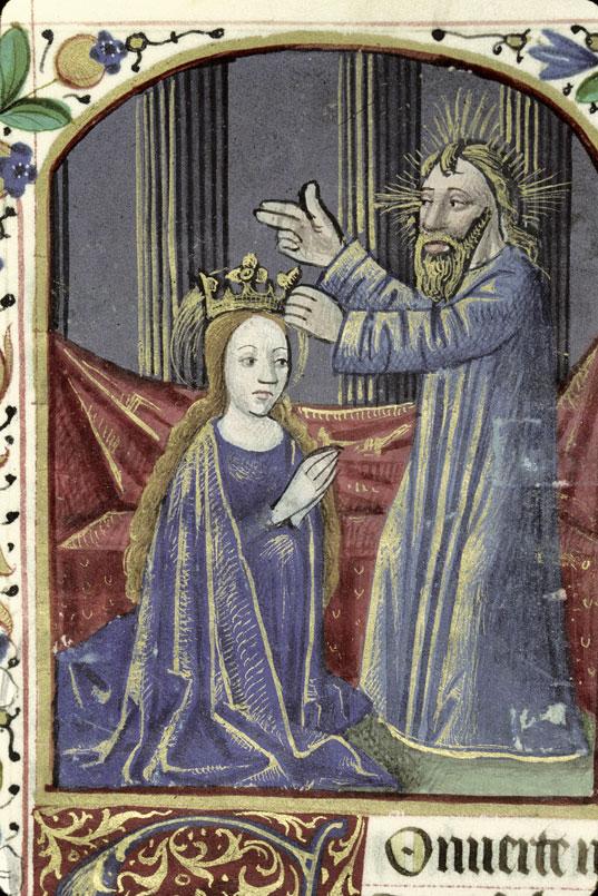 Heures à l'usage de Saintes - Couronnement de la Vierge_0