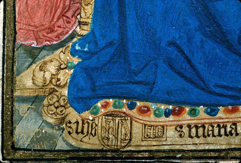 Heures à l'usage de Rouen - Donatrice priant la Vierge à l'Enfant_0