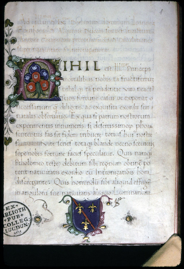 Prognostica praevisio pro Iohanne, Borbonii duce, in anno 1483