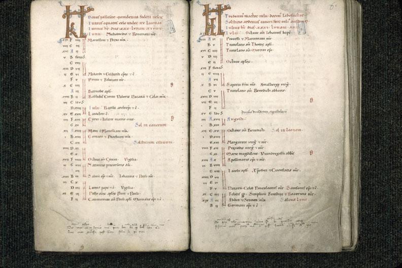 Sacramentaire à l'usage de l'abbaye de Saint-Amand - Initiales_0