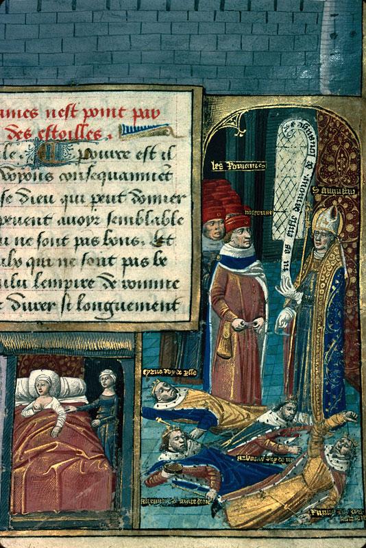 Cité de Dieu - Saint Augustin reprochant à Mécène son orgueil_0