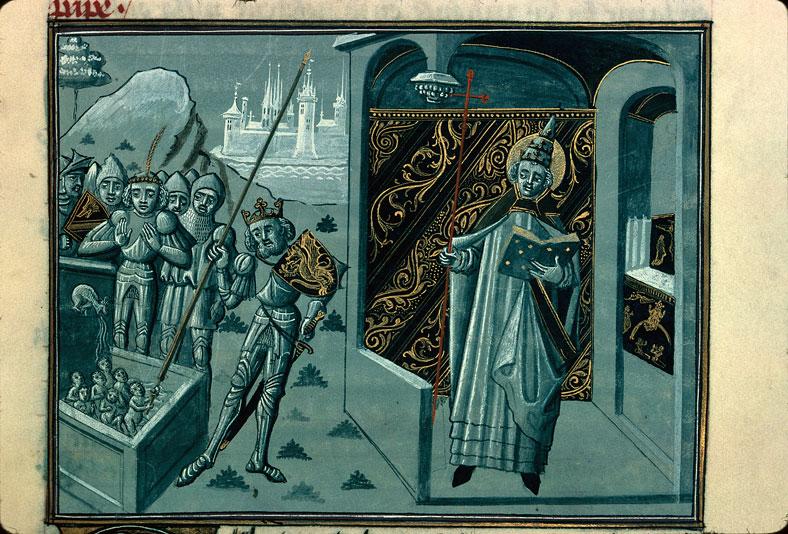 Légende dorée - Septuplés sauvés par le roi Agilmud, au temps de saint Pélage Ier_0