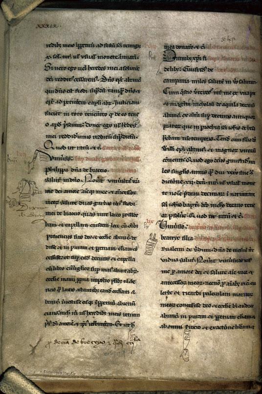 Cartulaire du chapitre cathédral d'Avranches - Signes codicologiques_0