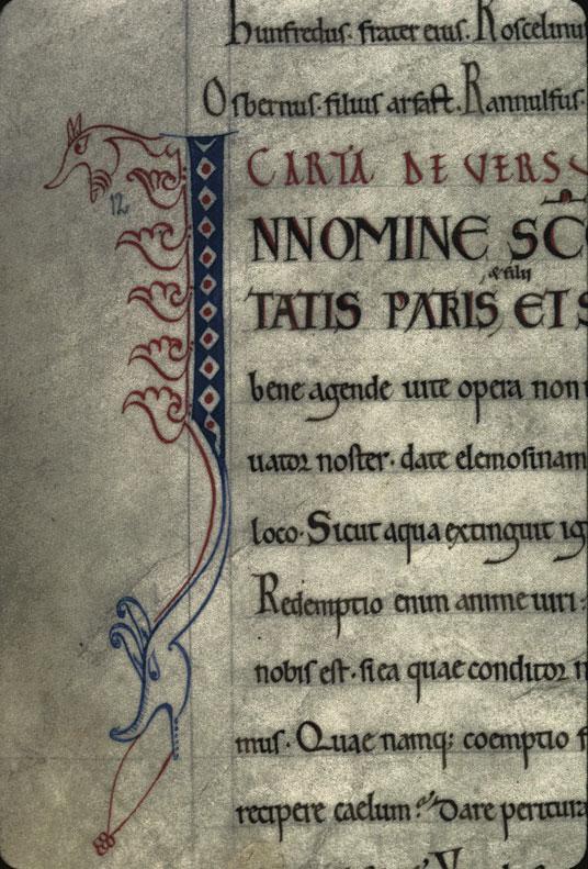 Cartulaire de l'abbaye du Mont-Saint-Michel - Hybrides zoomorphes_0