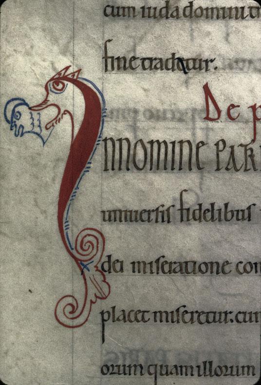 Cartulaire de l'abbaye du Mont-Saint-Michel - Hybride zoomorphe_0