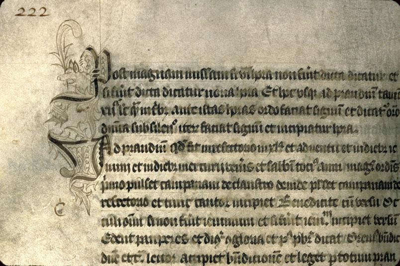 Cérémonial de l'abbaye du Mont-Saint-Michel/Constitutiones monasterii Montis S. Michaelis - Initiales cadelées_0
