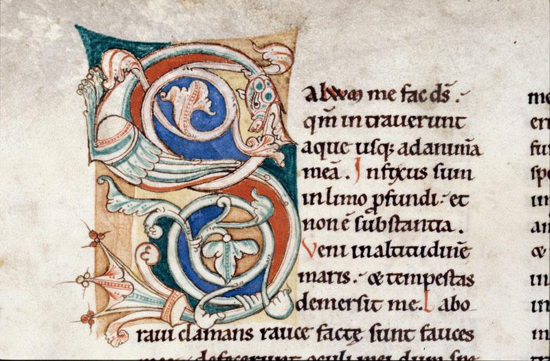 Bible (partie de) - Hybride zoomorphe crachant des végétaux_0