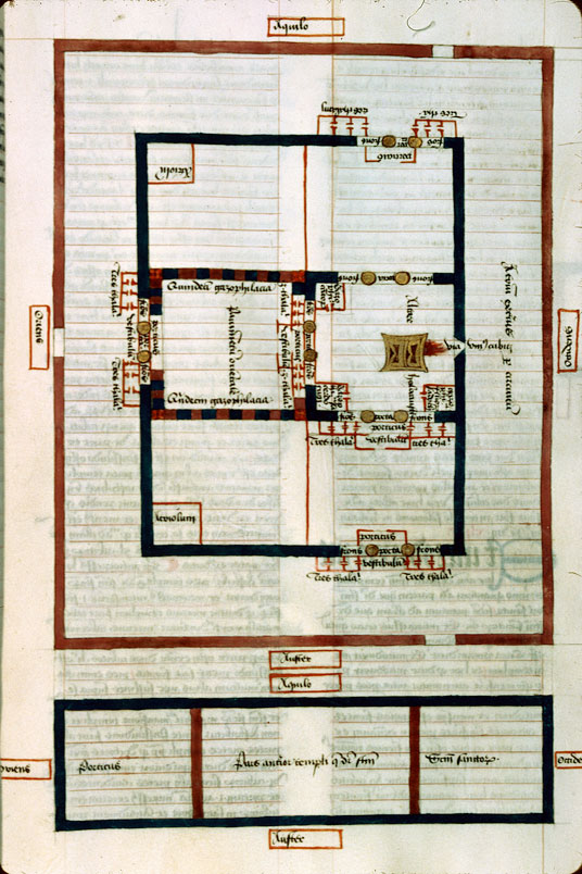 Postilla in Bibliam - Plan des annexes des portes du Temple_0