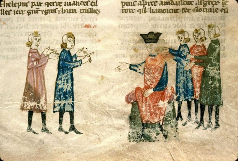 Histoire ancienne jusqu'à César - Messagers grecs réclamant Hélène à Priam_0