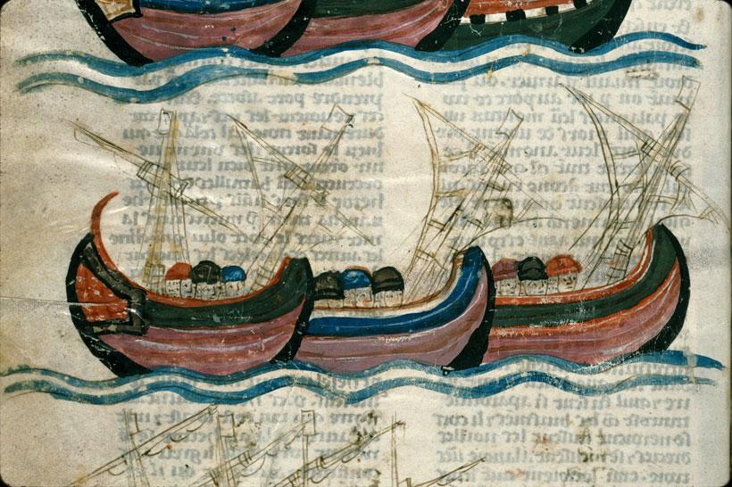 Histoire ancienne jusqu'à César - Flotte grecque naviguant vers Troie et débarquant_0