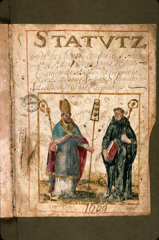 Statuts de la confrérie de Saint-Honoré et de Saint-Maur de Carpentras