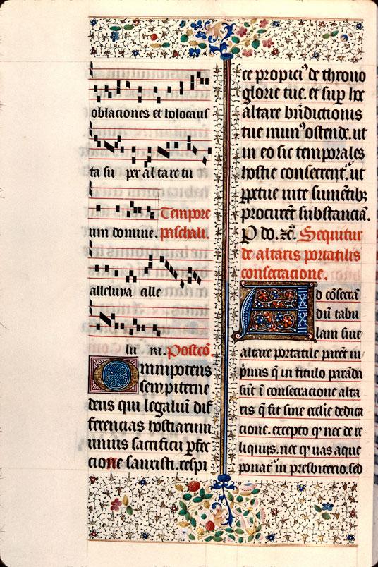 Pontifical à l'usage de Besançon - Page décorée_0