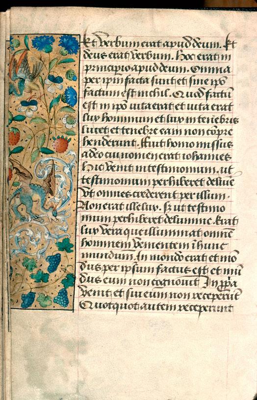 Heures à l'usage de Sarum et de Poitiers - Page décorée_0