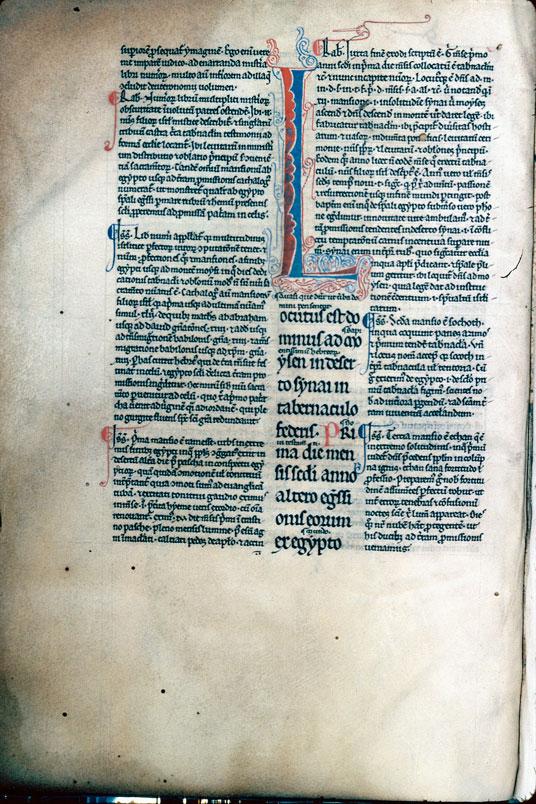 Bible glosée (partie de) - Initiale filigranée_0