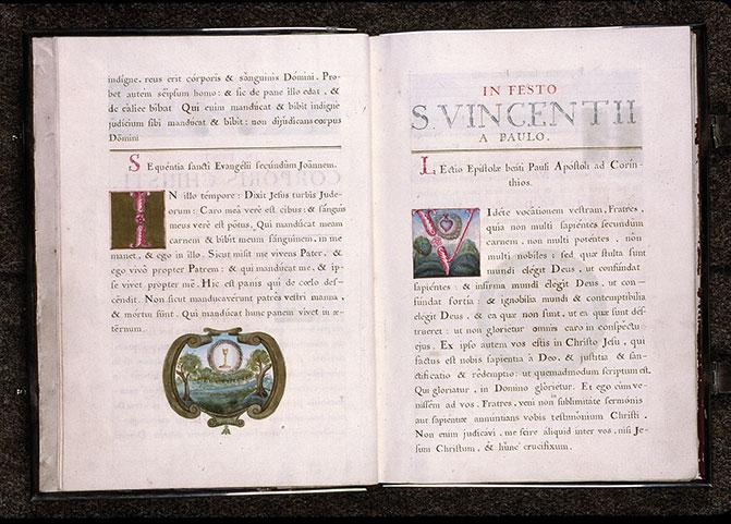 Lectionnaire de messe des religieuses de l'Hôpital Saint-Jean d'Angers