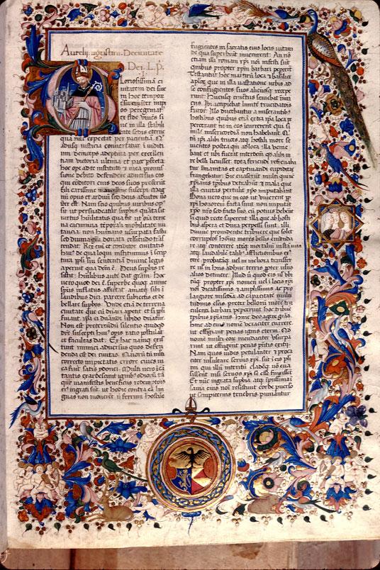Civitate Dei (De) - Page décorée, avec armes (à identifier)_0