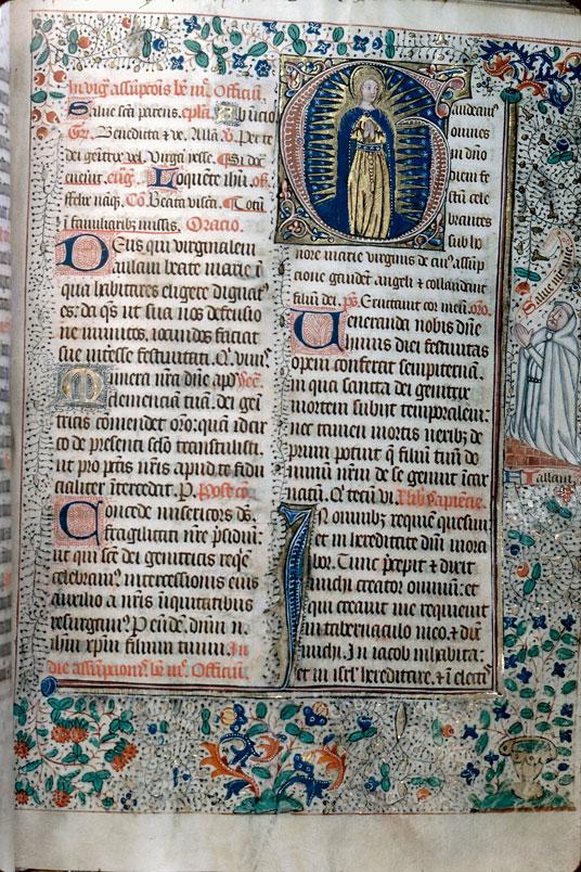 Missel à l'usage de l'abbaye Notre-Dame de Silly - Page décorée_0