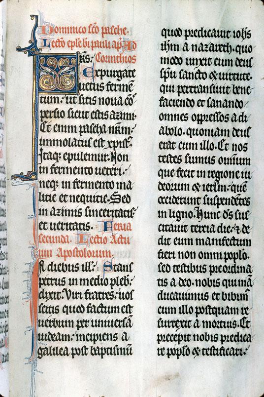 Lectionnaire de messe de l'abbaye Saint-Evroult d'Ouche