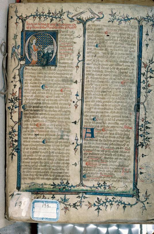 Summa de casibus conscientiae - Religieux priant sainte Catherine_0
