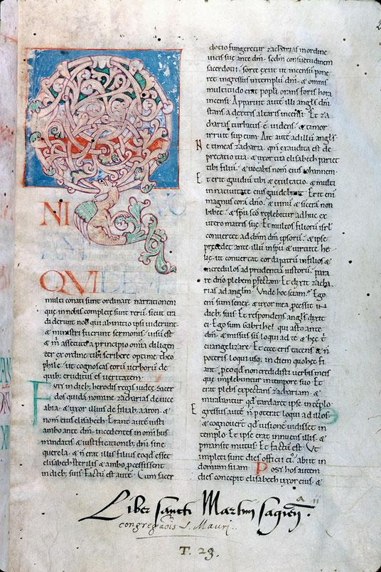 Expositio in Evangelium Lucae - Initiale ornée_0