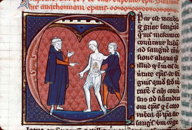 Canon medicinae - Médecin et malade souffrant du foie_0
