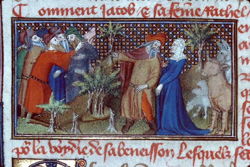 Roman de Dieu et de sa mere - Réconciliation d'Esaü et de Jacob_0