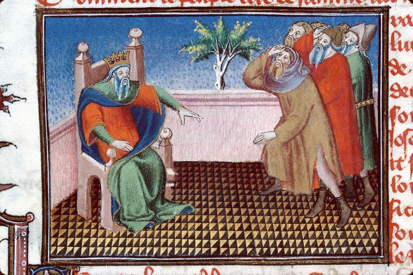 Roman de Dieu et de sa mere - Egyptiens affamés demandant des vivres à Pharaon_0