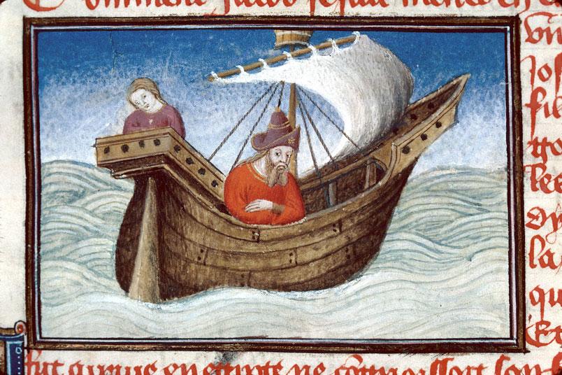 Roman de Dieu et de sa mere - Jacob naviguant vers l'Egypte_0