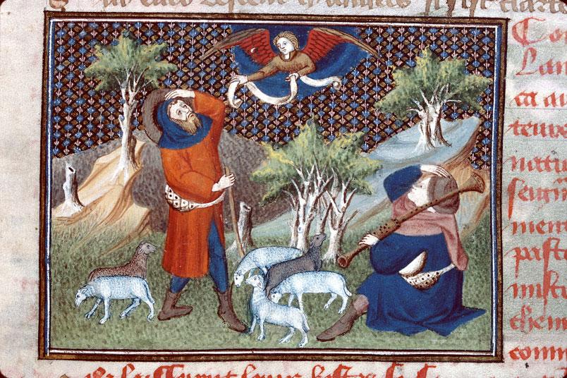 Roman de Dieu et de sa mere - Annonce aux bergers_0