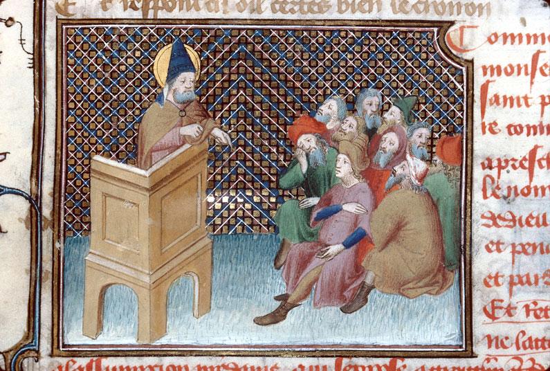 Roman de Dieu et de sa mere - Saint Pierre prêchant_0