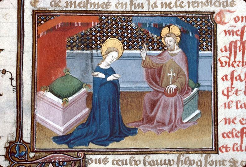 Roman de Dieu et de sa mere - Dieu bénissant la Vierge_0