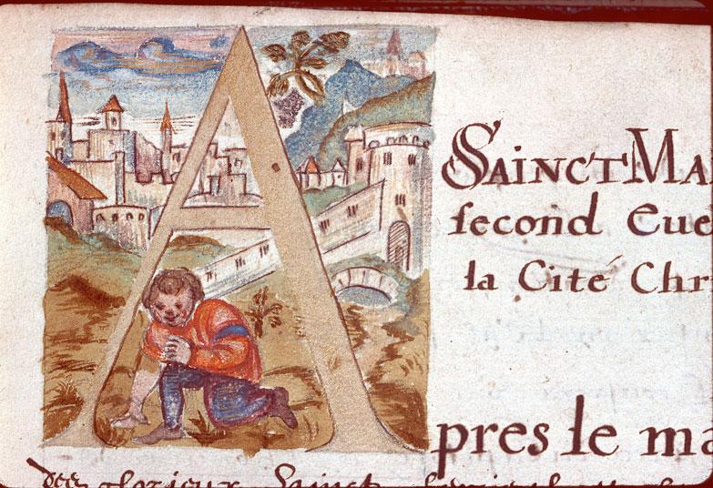 Catalogue et vie des évêques et archevêques de Besançon - Paysage avec ville_0