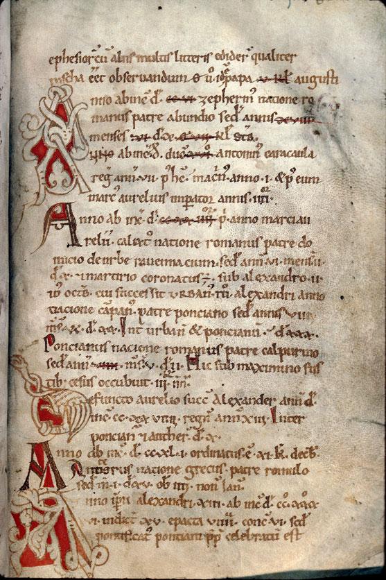 Chronicon universale (fragment) - Initiales ornées_0