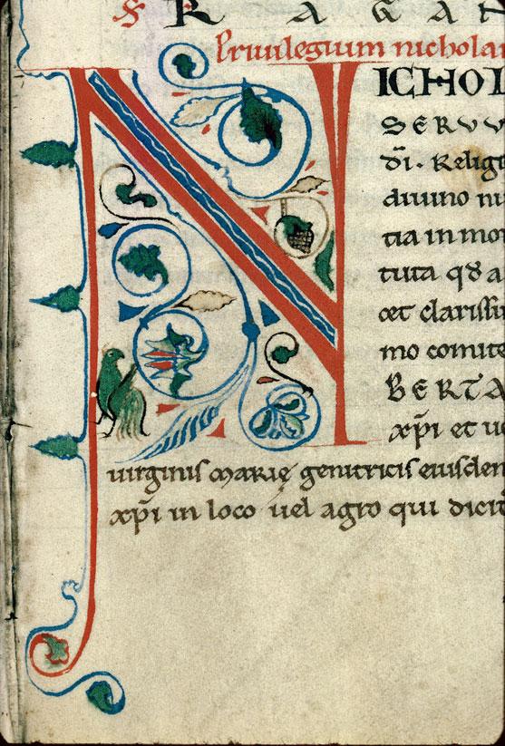 Historia Vizeliacensis monasterii - Initiale de couleur ornée_0