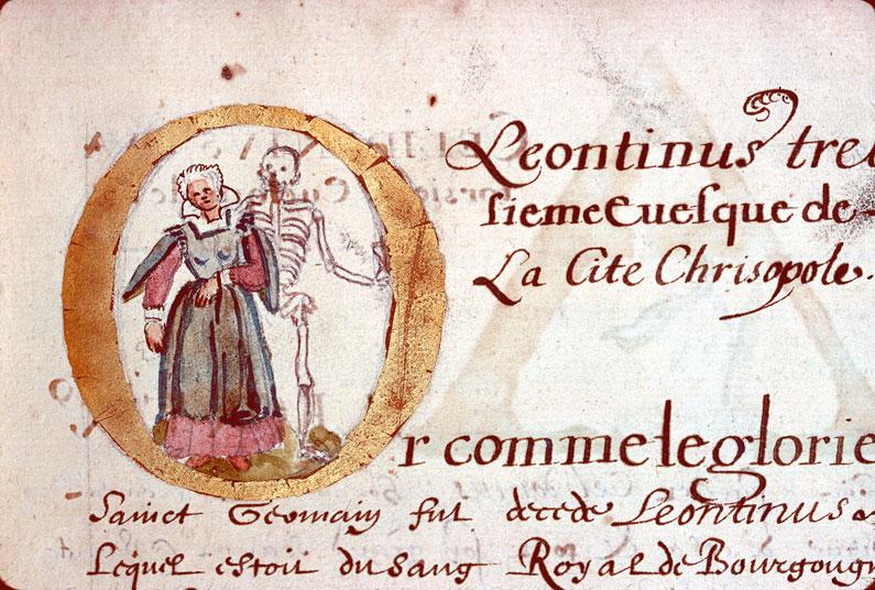 Catalogue et vie des évêques et archevêques de Besançon - Femme et la Mort_0